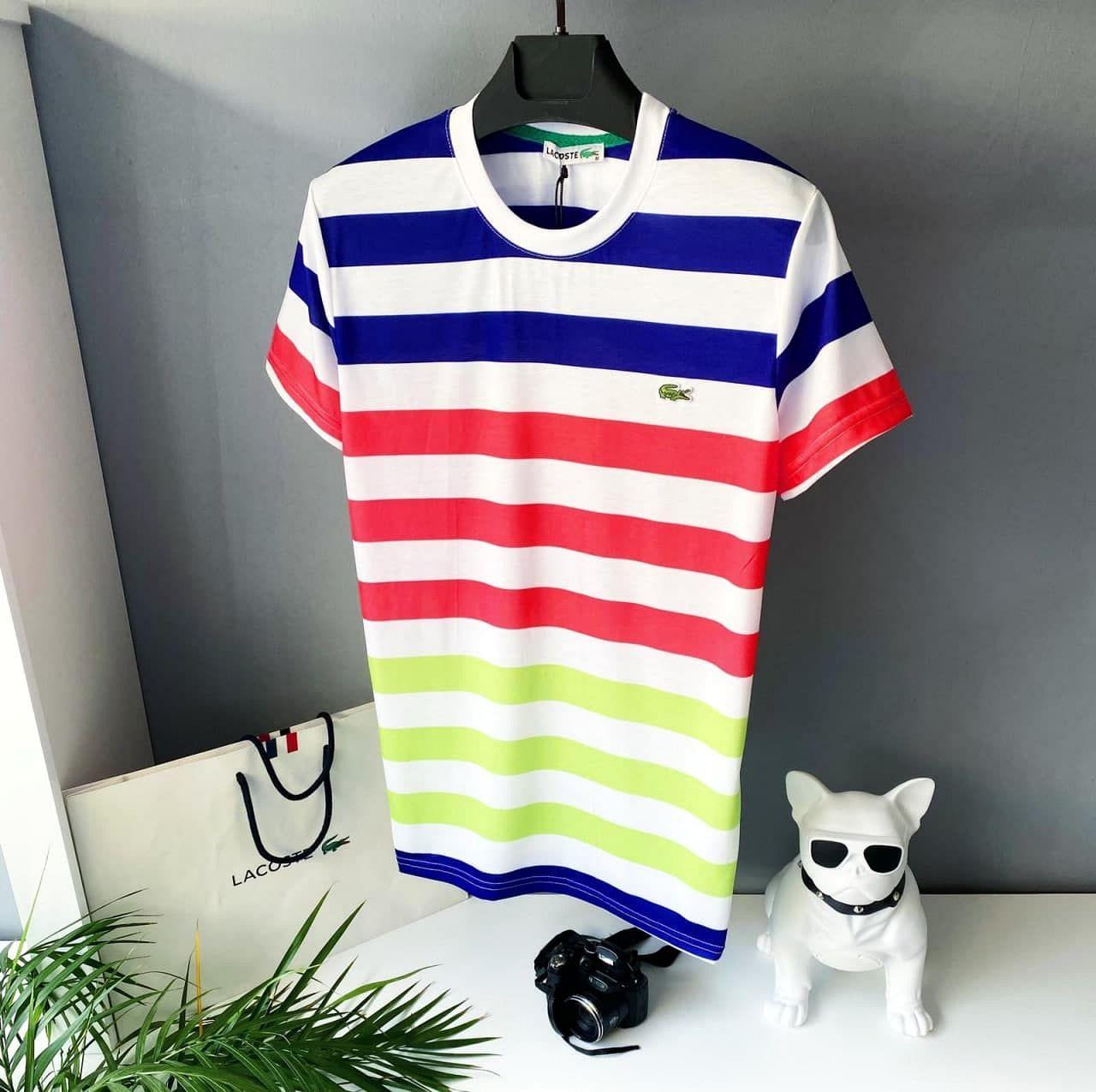 Мужская разноцветная футболка, лакост