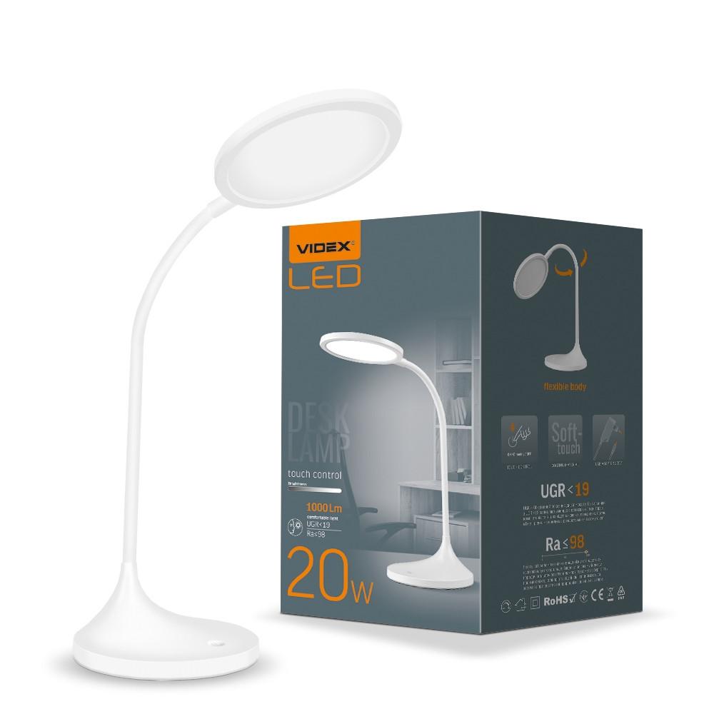 LED настільна лампа VIDEX TF14W 20W 4100K біла VL-TF14W 26430