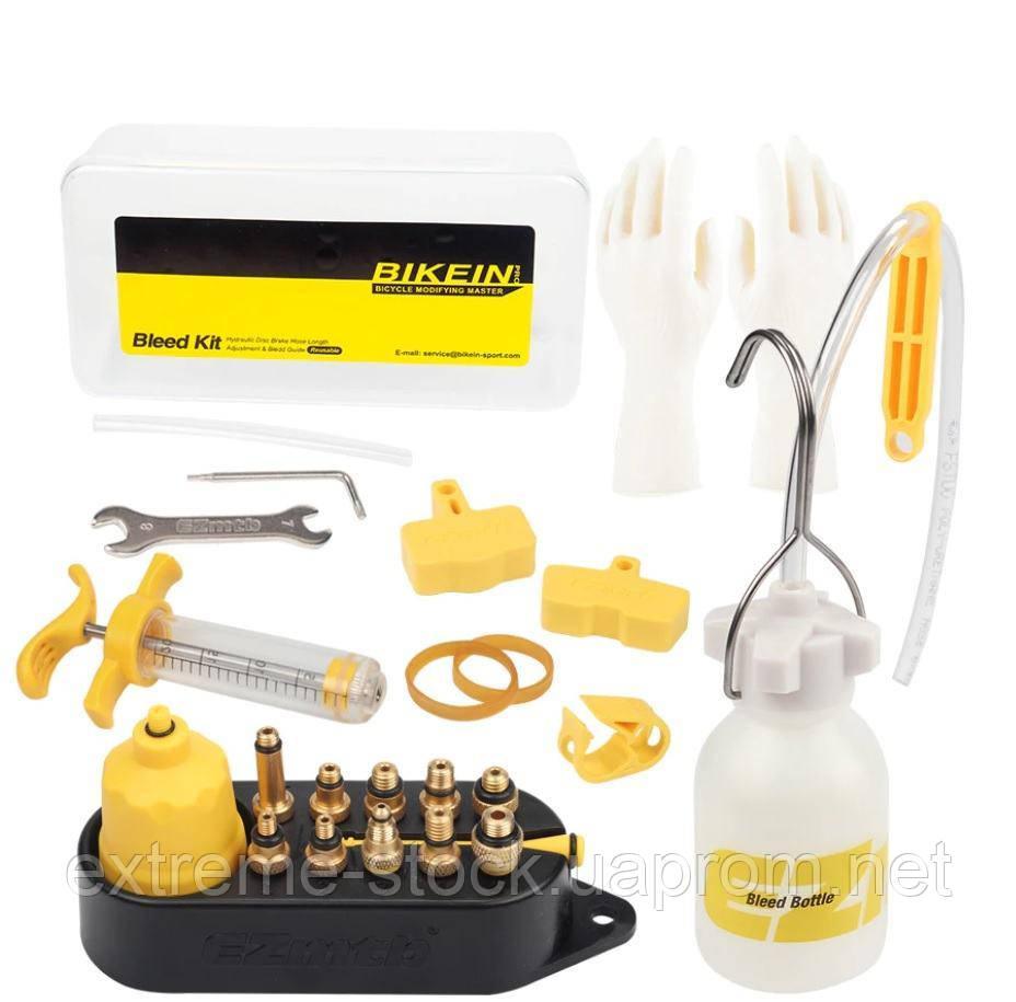 Набор EZmtb Bleeding Kit Professional для прокачки тормозов, латунные адаптеры