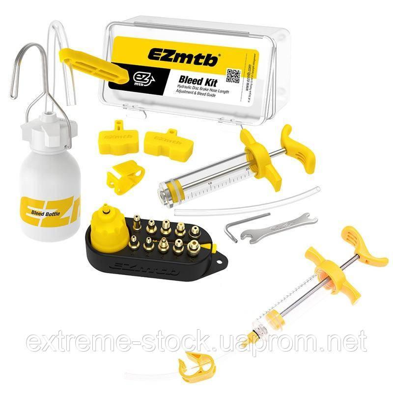 Набор EZmtb Bleeding Kit Full для прокачки тормозов, латунные адаптеры