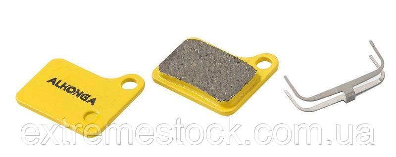 Колодки дискові ALHONGA HJ-DS15 Shimano сумісні Deore M555, C900, 901 Nexave organic black