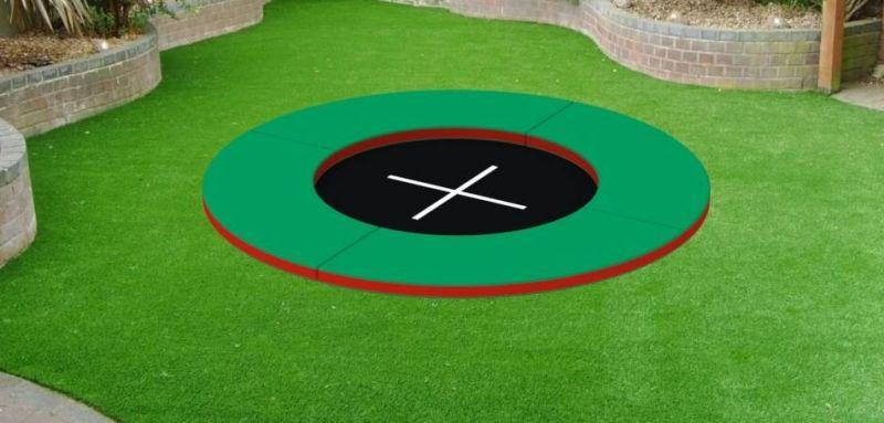 Ґрунтовий Батут Kidigo Circle 2,4х2,4, в асортименті