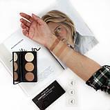 Эксклюзивная палетка для контурирования лица Golden Rose Contour Powder Kit 3x3.5 г, фото 3