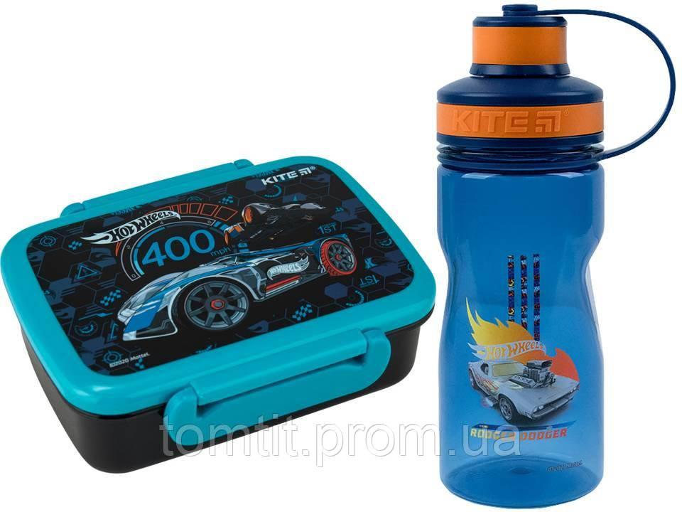 Набор Hot Wheels (Хот вилс). Ланч бокс (контейнер) + бутылка, ТМ Kite (Кайт)
