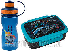 Набор Hot Wheels (Хот вилс). Ланч бокс (контейнер) + бутылка, ТМ Kite (Кайт), фото 3