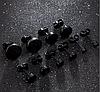 Имитация плаги для украшения пирсинга ушей 6мм 10мм из медицинской стали (титановое анодирование)