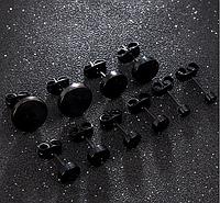 Имитация плаги для украшения пирсинга ушей 6мм 10мм из медицинской стали (титановое анодирование), фото 1