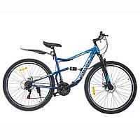 Велосипед SPARK BULLET 27,5-ST-18-AM2-D (Черный с синим)