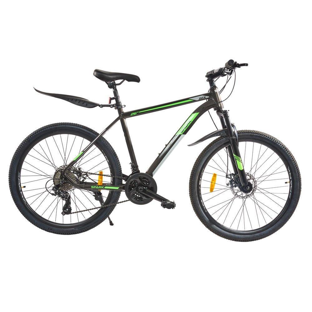 Велосипед SPARK JACK 26-Al-19-AML-D Shimano (Серый с зеленым)
