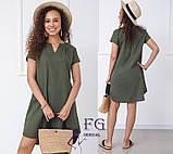 """Вільний жіноча літнє плаття з льону """"Penny"""", фото 2"""