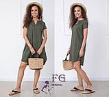 """Вільний жіноча літнє плаття з льону """"Penny"""", фото 6"""