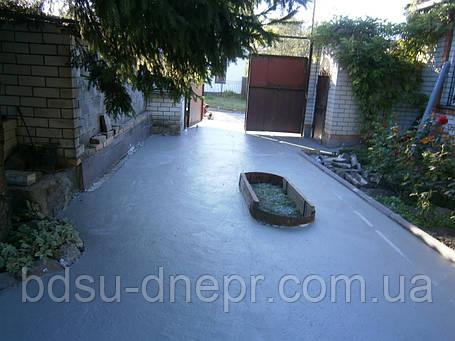Бетонирование двора в Днепропетровске, фото 2