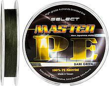 Шнур Select Tackles Master PE 100м, 0.18 мм, 21кг, темно-зелений (1870.01.46)