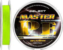 Шнур Select Tackles Master PE 150м, 0.18 мм, 21кг, салатовий (1870.01.55)