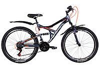 """Велосипед 26"""" Discovery CANYON 2021 (графитово-черный с оранжевым (м))"""