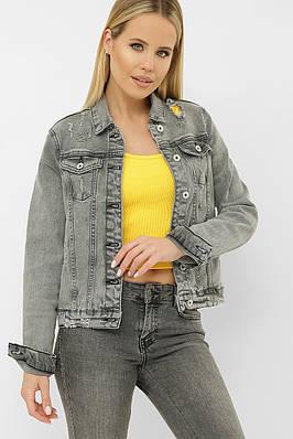 Светло-серый джинсовый пиджак