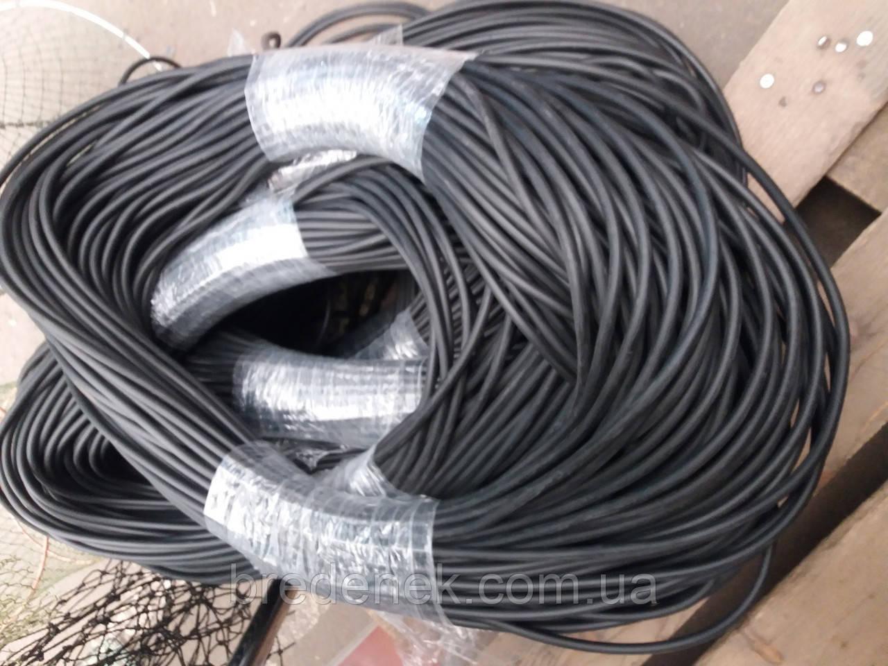 Шнур вантажний нижній гума 75 м вага 64 г/м діаметр 7 мм