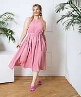 Платье длины миди с накладными карманами, фото 1