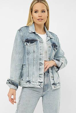 Голубой джинсовый молодежный пиджак
