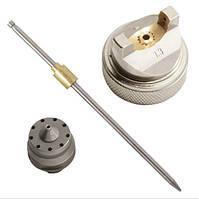 Форсунка для краскопульта 1.3мм HVLP комплект (дюза, воздушная головка, игла) INTERTOOL PT-2000