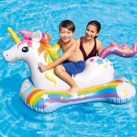 Пліт надувний для плавання Intex 57552 Єдиноріг, (163х86 см)