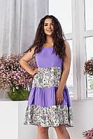 Літнє жіноче плаття вільного крою батал, фото 1