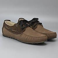 Коричневые летние топсайдеры нубук мужская обувь на лето широкая стопа Rosso Avangard TopS Cappuc Brown Nub