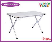 Складной стол с алюминиевой столешницей Тгаmр Roll-120 (120x60x70 см) TRF-064