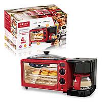 Багатофункціональна машина для сніданку тостер, духовка, чайник Haeger 5308