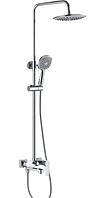Душевая колонна со смесителем Haiba MILANO 003-J хромированная душевая система с душем тропическим и ручным