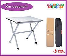 Складной стол с алюминиевой столешницей Тгамр Roll-80 (80x60x70 см) TRF-063