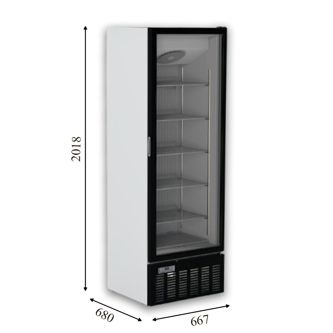 CRFV 500 Морозильный шкаф со стеклянной дверью без лайтбокса CRYSTAL S.A. Греция
