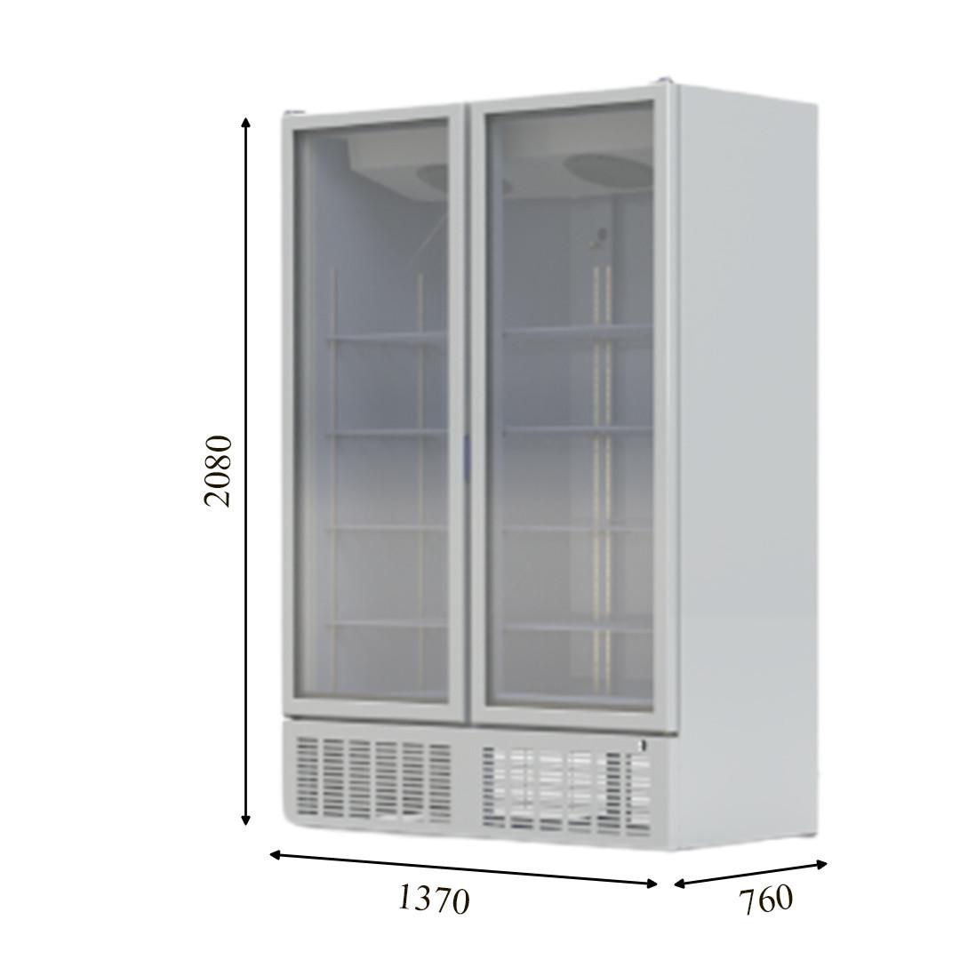 CRFV 1200 Морозильный шкаф со стеклянной дверью без лайтбокса CRYSTAL S.A. Греция