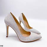 Женские туфли лодочки белые из натуральной кожи, фото 3