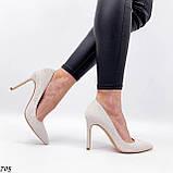 Женские туфли лодочки белые из натуральной кожи, фото 8