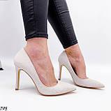 Женские туфли лодочки белые из натуральной кожи, фото 2