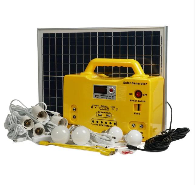 Переносная солнечная электростанция Турист-20 комплект для туризма отдыха рыбалки SHS-2012R