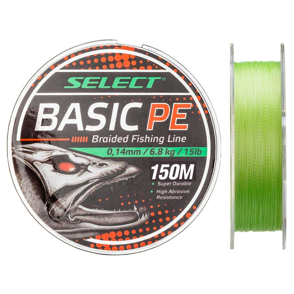 Шнур Select Basic PE 150m (салат.) 0.12mm 12lb/5.6kg