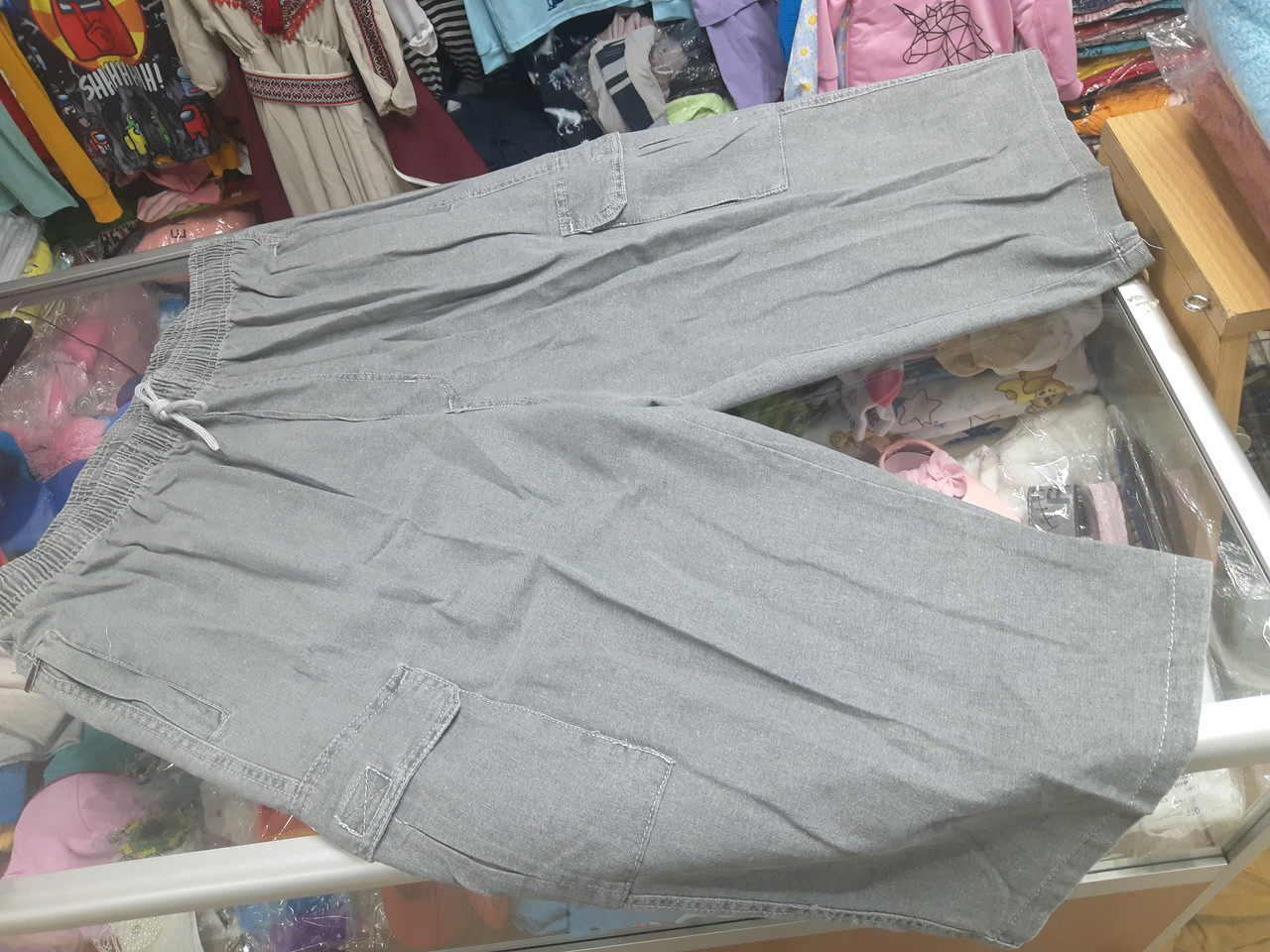 Мужские джинсовые шорты с карманами большие размеры р.62 64 66