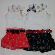 Комплект Kus для девочки:  майка-босерка, шорты