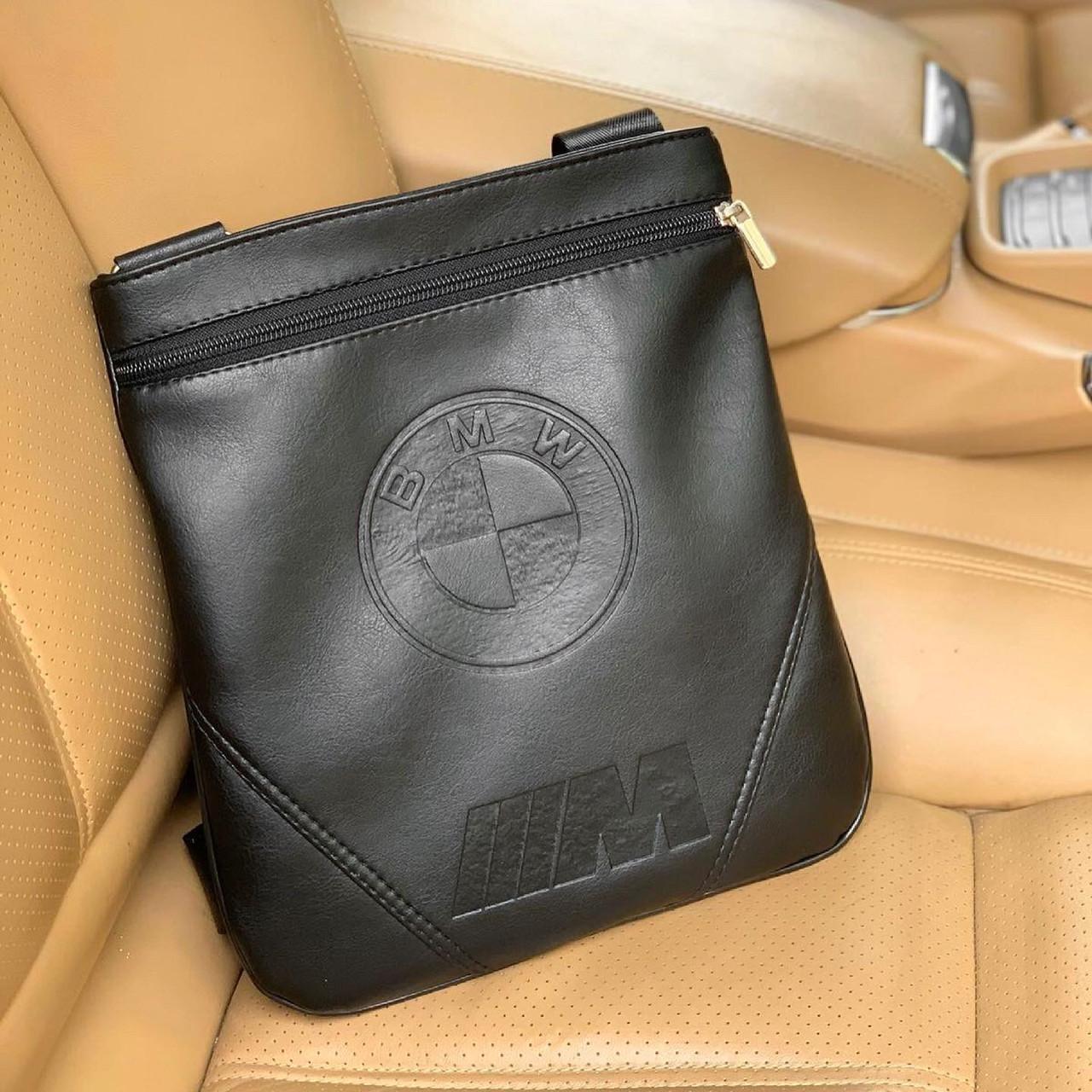 Сумка мужская BMW через плечо почтальенка мессенджер брендовая копия высокого качества