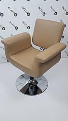 Парикмахерское кресло с подголовником широкое Diva