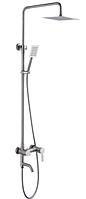 Система душевая с смесителем ZERIX LR72401 душевой набор со стойкой из нержавеющей стали душевая колона