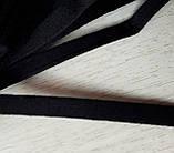 Тунельна стрічка чорна плоска, ширина 1см, колір чорний (Туреччина), фото 2