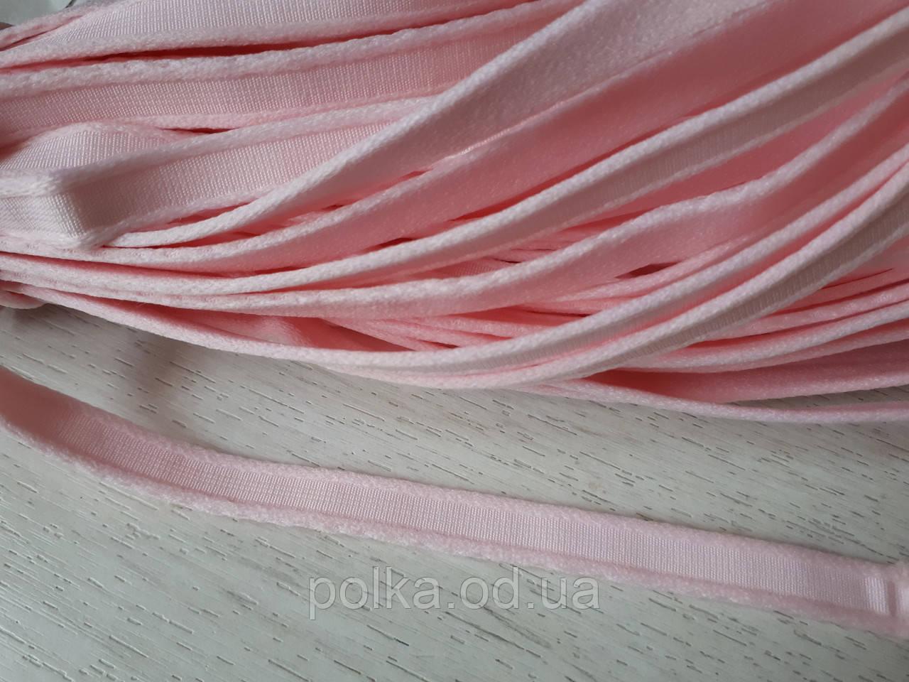Туннельная лента розовая плоская, ширина 1см, цвет розовый (Турция)