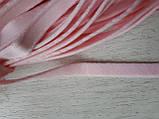 Туннельная лента розовая плоская, ширина 1см, цвет розовый (Турция), фото 3
