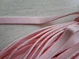 Туннельная лента розовая плоская, ширина 1см, цвет розовый (Турция), фото 2