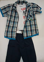 Комплект для мальчика майка, сорочка и шорты