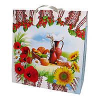 Пакет подарочный  натюрморт / орнамент / цветы.