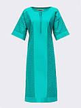 Свободное платье из прошвы с коротким рукавом, фото 10